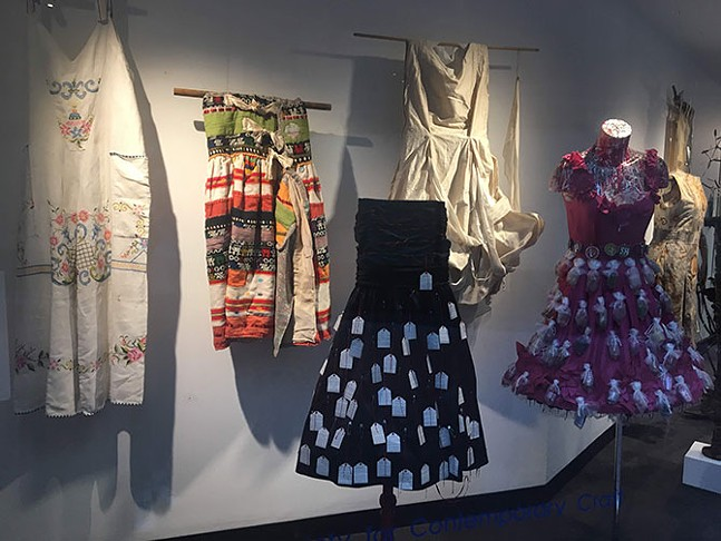 Slow Fashion display in Crafting Conversations - CP PHOTO: HANNAH LYNN
