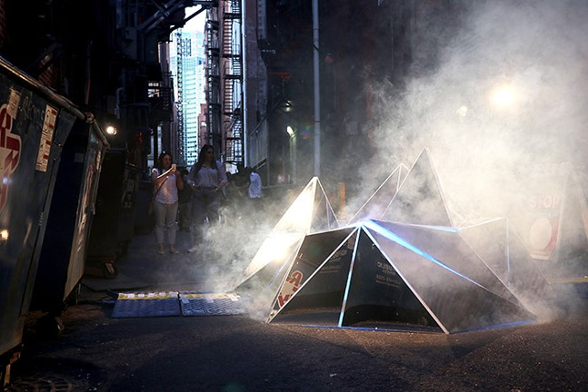 An art installation near Liberty Avenue - CP PHOTO: JOIE KNOUSE