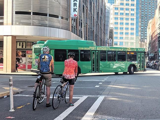 The bike lane on Penn Avenue - CP PHOTO: LISA CUNNINGHAM