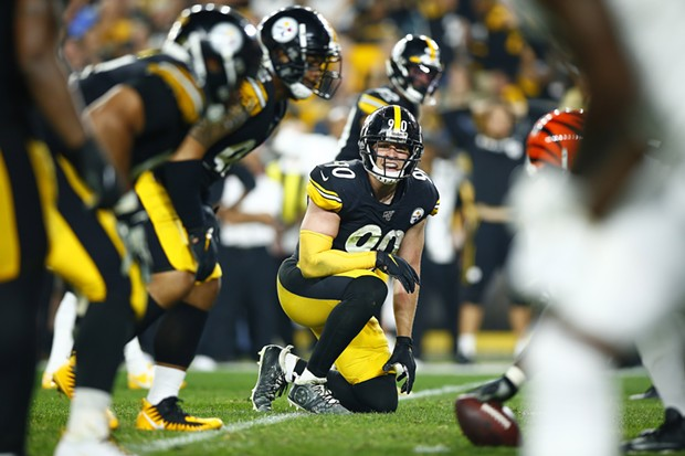 T.J. Watt runs the defense from the line of scrimmage. - CP PHOTO: JARED WICKERHAM
