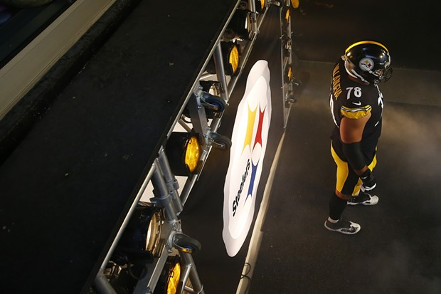 Alejandro Villanueva waits in the tunnel before being introduced. - CP PHOTO: JARED WICKERHAM