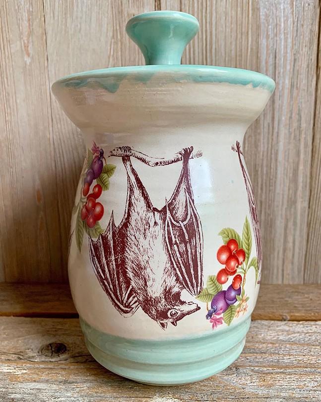 White Swan Studio bat jar