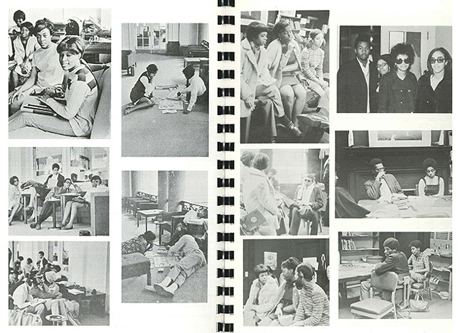 Pages from the 1969 Black Action Society publication, As-Salaam Alaikum - PHOTO: UNIVERSITY ARCHIVES/UNIVERSITY OF PITTSBURGH