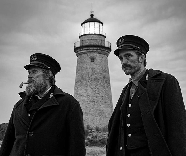 Willem Dafoe and Robert Pattinson in The Lighthouse - A24