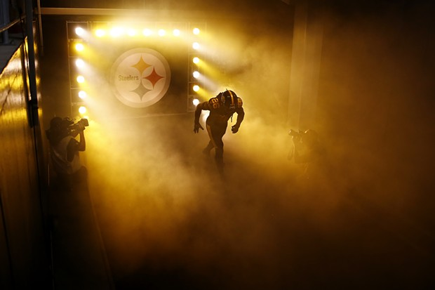 Mark Barron #26 of the Pittsburgh Steelers takes the field against the Miami Dolphins. - CP PHOTO: JARED WICKERHAM