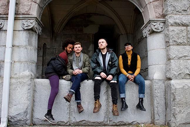 Left to right: Joshua Orange, Zachary Luettgen, Tony Resch, and Beck Reid - CP PHOTO: JOIE KNOUSE