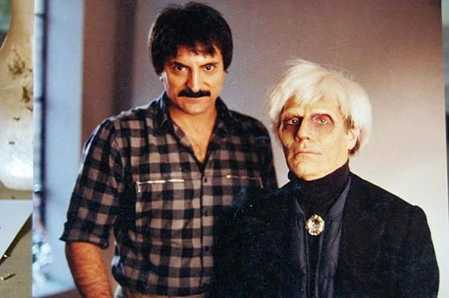 Tom Savini with Andy Warhol - COURTESY OF TOM SAVINI