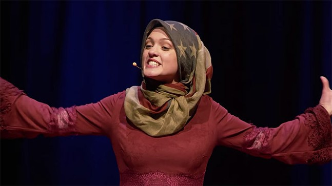 "Amal Kassir - SCREENSHOT FROM ""THE MUSLIM ON THE AIRPLANE"""