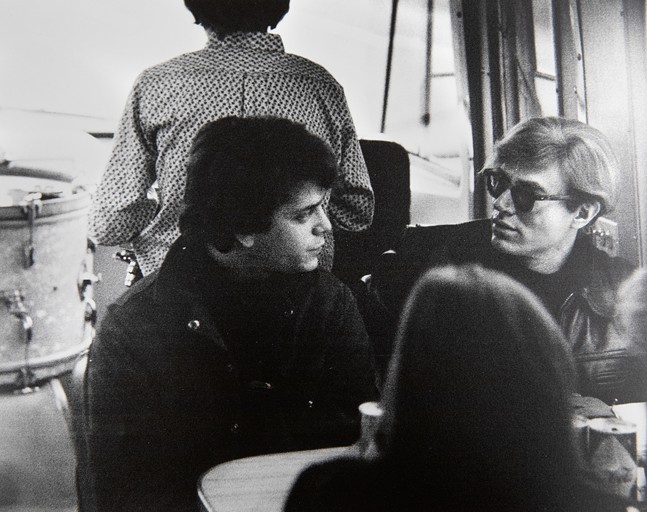 Lou Reed and Andy Warhol in 1965 - PHOTO COURTESY OF CORNELL LIBRARY'S DIVISION OF RARE AND MANUSCRIPT COLLECTIONS