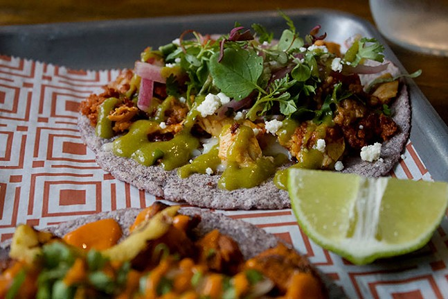 Chicken chorizo taco - CP PHOTO: JOIE KNOUSE