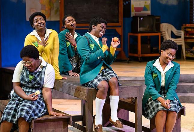 Left to right: Atiauna Grant, Shakara Wright, Candace Boahene, Markia Nicole Smith, Ezioma Asonye - PHOTO: MICHAEL HENNINGER