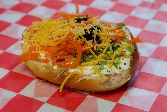 A veggie pizza pretzel from The Pretzel Shop - CP PHOTO: JOIE KNOUSE
