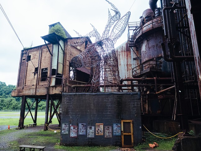 The Carrie Deer sculpture at the former Carrie Furnace site in Swissvale - CP PHOTO: JARED MURPHY