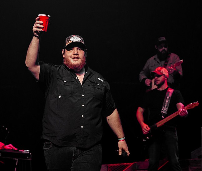 Luke Combs at PPG Paints Arena for his Beer Never Broke My Heart Tour on Sat., Nov. 23, 2019 - CP PHOTO: MIKE PAPARIELLA