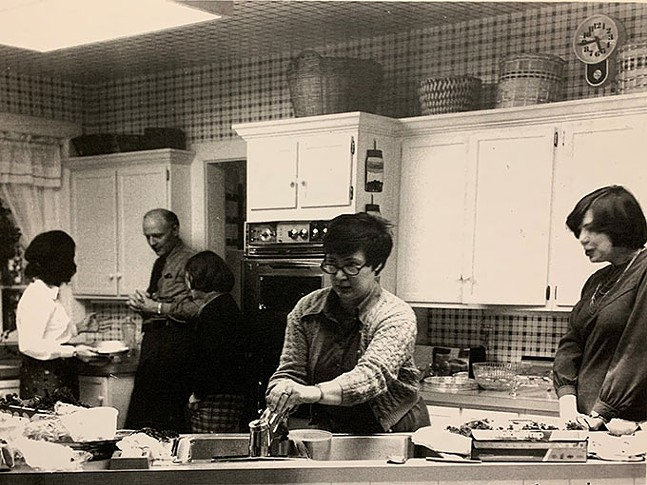 Tasting kitchen for the first Three Rivers Cookbook, taken in 1973. - CHILD HEALTH ASSOCIATION OF SEWICKLEY