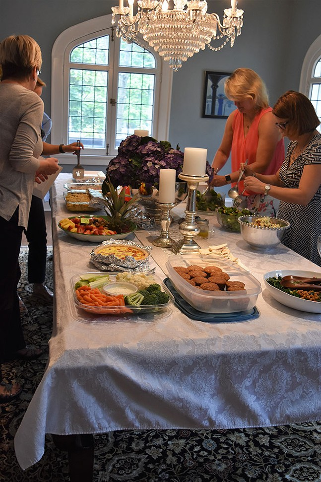 Tasting party for the development of Three Rivers Cookbook V. - CHILD HEALTH ASSOCIATION OF SEWICKLEY