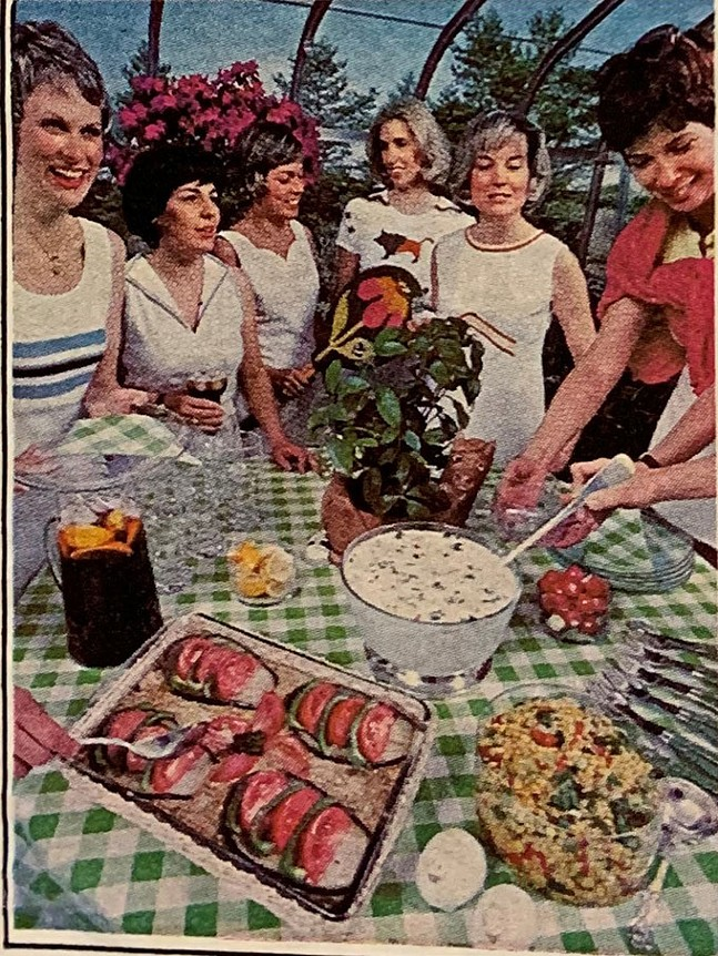 1976 promotional photo for the first Three Rivers Cookbook. - CHILD HEALTH ASSOCIATION OF SEWICKLEY