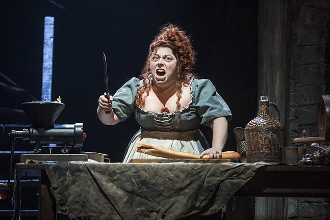 Allison Guinn as Madame Thénardier in Les Misérables - PHOTO: MATTHEW MURPHY