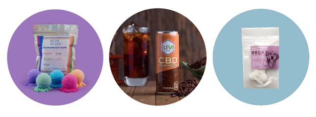 Some of the CBD products available at Total Peace & Wellness