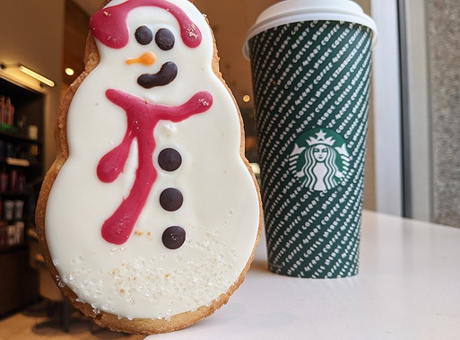 Starbucks 2019 holiday cookie and coffee cup - CP PHOTO: LISA CUNNINGHAM