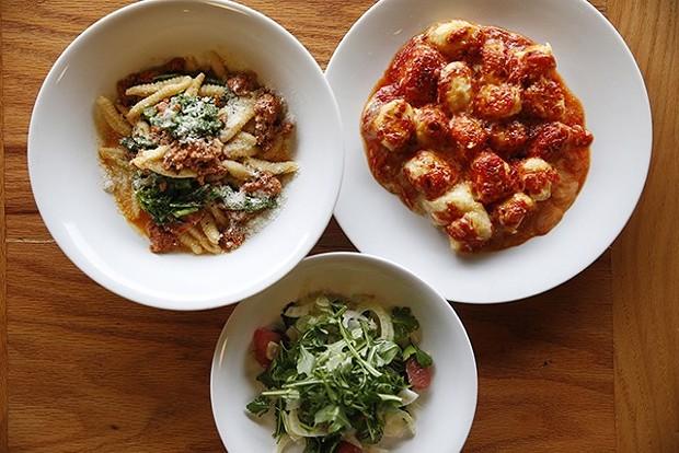 The housemade cavatelli and sausage, potato gnocchi, and fennel salad - CP PHOTO: JARED WICKERHAM