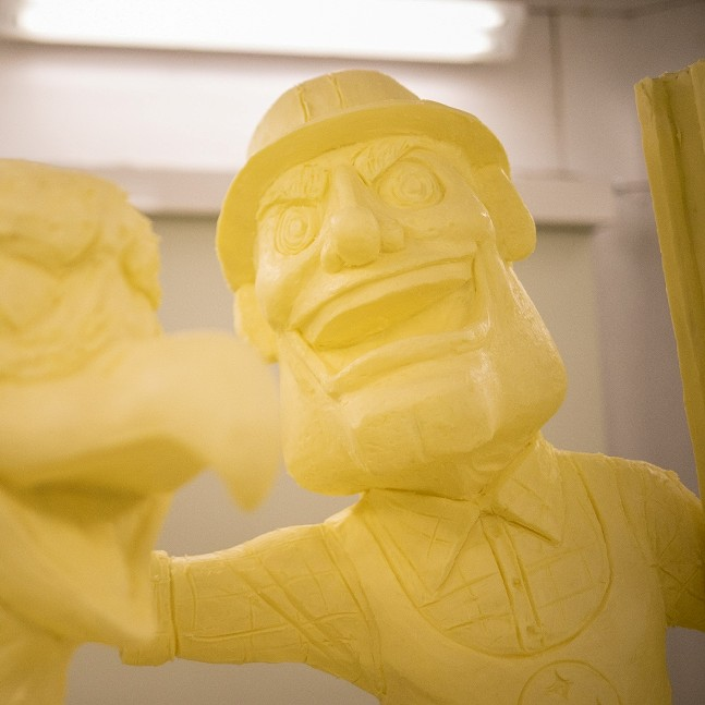Steely McBeam as a butter sculpture - PHOTO: PENNSYLVANIA GOVERNMENT