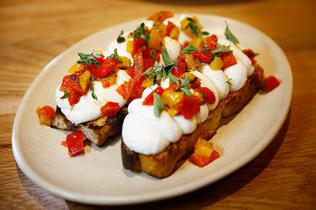Warm ricotta toast at Alta Via - CP PHOTO: JARED WICKERHAM