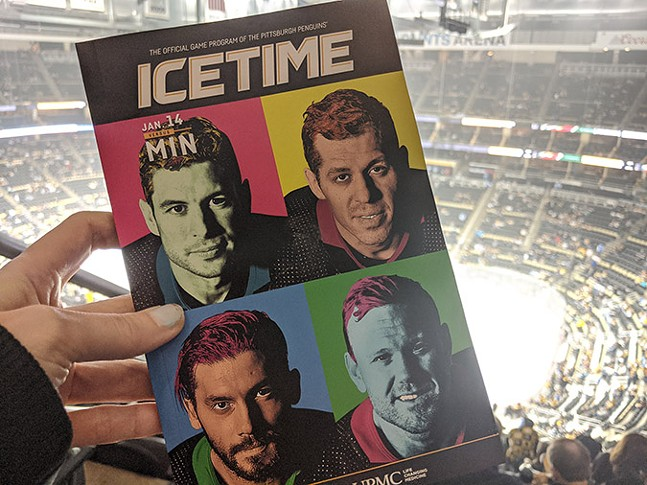 The Pittsburgh Penguins' program for Pittsburgh! Night on Tue., Jan. 14, 2020. - CP PHOTO: LISA CUNNINGHAM