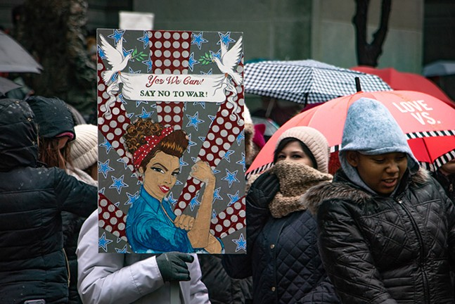 The Women's March in Downtown Pittsburgh on Sat., Jan. 18, 2020 - CP PHOTO: MEGAN GLOECKLER