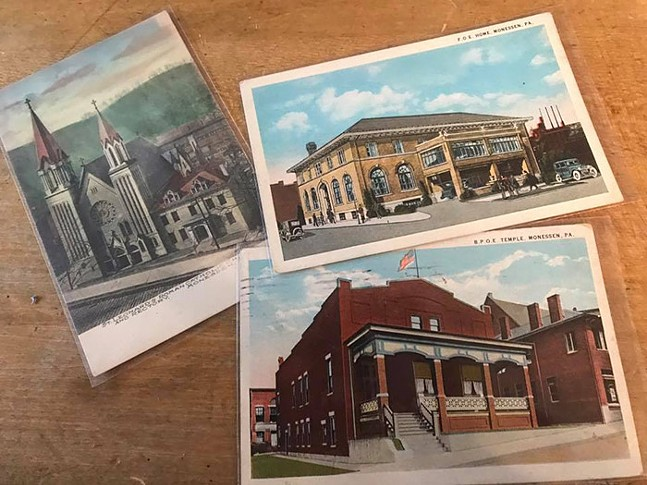 Old postcards from Monessen, shared on the City of Monessen's official Facebook page