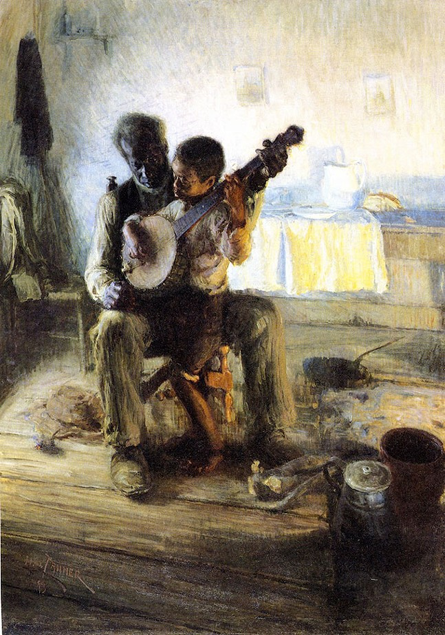 Detail of The Banjo Lesson by Henry Ossawa Tanner