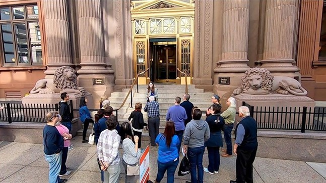 DOORS OPEN tour group outside of Dollar Bank in Downtown Pittsburgh. - PHOTO: DOORS OPEN PITTSBURGH