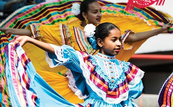 A group of young dancers at a Cinco de Mayo festival in Beechview in 2016 - PHOTO BY LUKE THOR TRAVIS