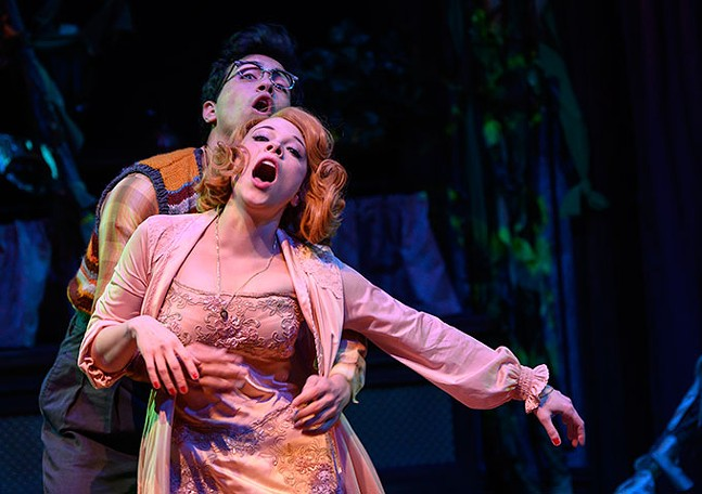Philippe Arroyo and Lauren Marcus in Little Shop of Horrors at Pittsburgh Public Theater - PHOTO: MICHAEL HENNINGER