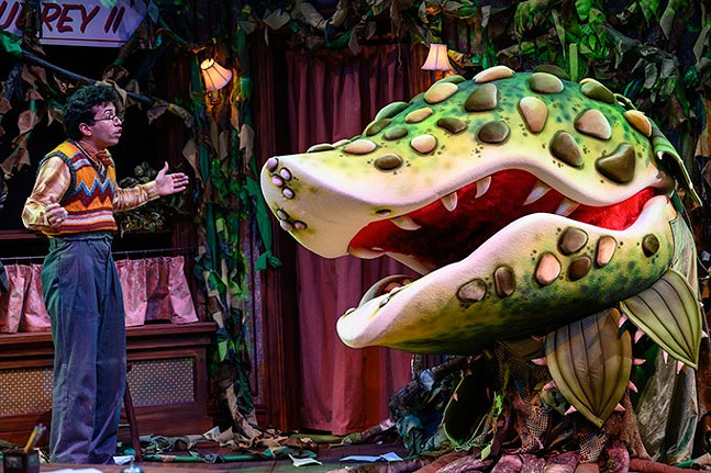 Philippe Arroyo in Little Shop of Horrors at Pittsburgh Public Theater - PHOTO: MICHAEL HENNINGER