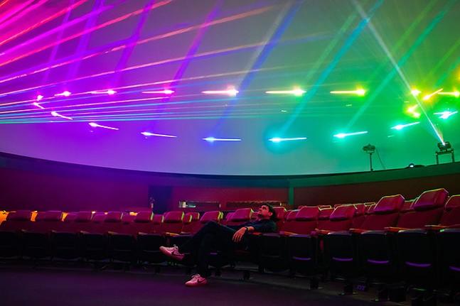 André Costello in Buhl Planetarium - CP PHOTO: MEGAN GLOECKLER