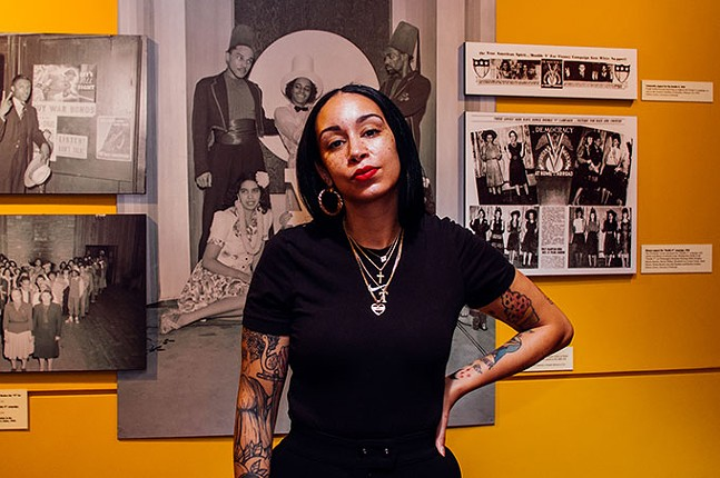 Tara Fay Coleman at The Pittsburgh Courier archives at John Heinz History Center - CP PHOTO: SARAH HUNY YOUNG