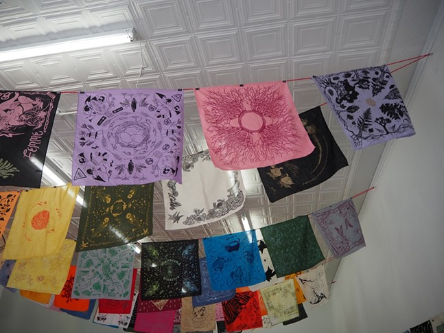 Queer Ecology Hanky Project at the Irma Freeman Center for Imagination. - PHOTO: MARY TREMONTE