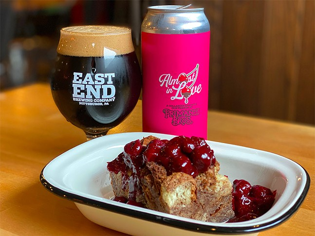Almost In Love beer paired with chocolate bread pudding from Larder of East End - PHOTO: EAST END BREWING