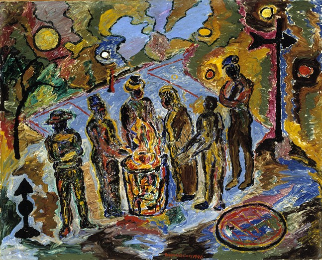 Can Fire in the Park by Beauford Delaney - SMITHSONIAN AMERICAN ART MUSEUM