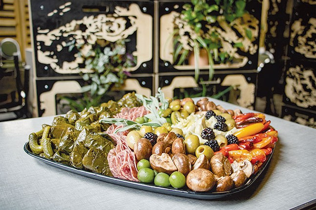 Antipasti platter from Sprezzatura's catering menu - CP PHOTO: MEGAN GLOECKLER