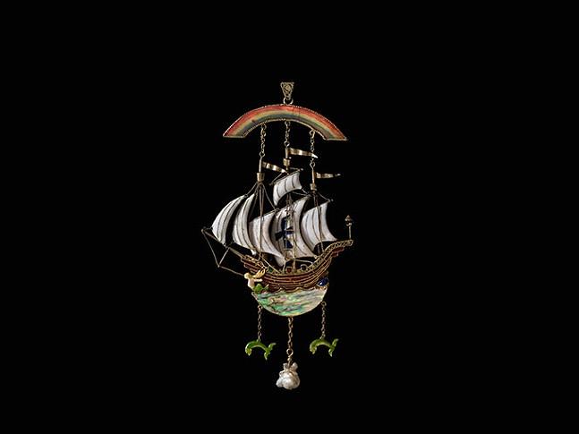 Galleon pendant by Henry Charles Barker - JOHN FAIER/THE RICHARD H. DRIEHAUS MUSEUM