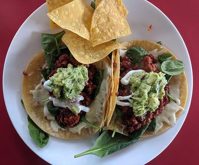 Tacos at Brassero Grill - CP PHOTO: MAGGIE WEAVER