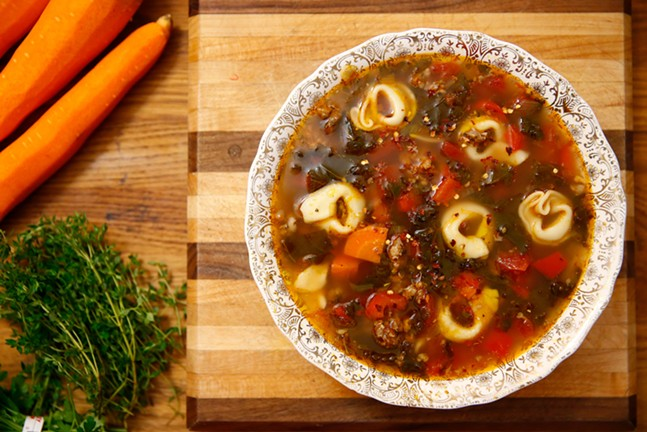 Sausage tortellini soup - CP PHOTO: JARED WICKERHAM