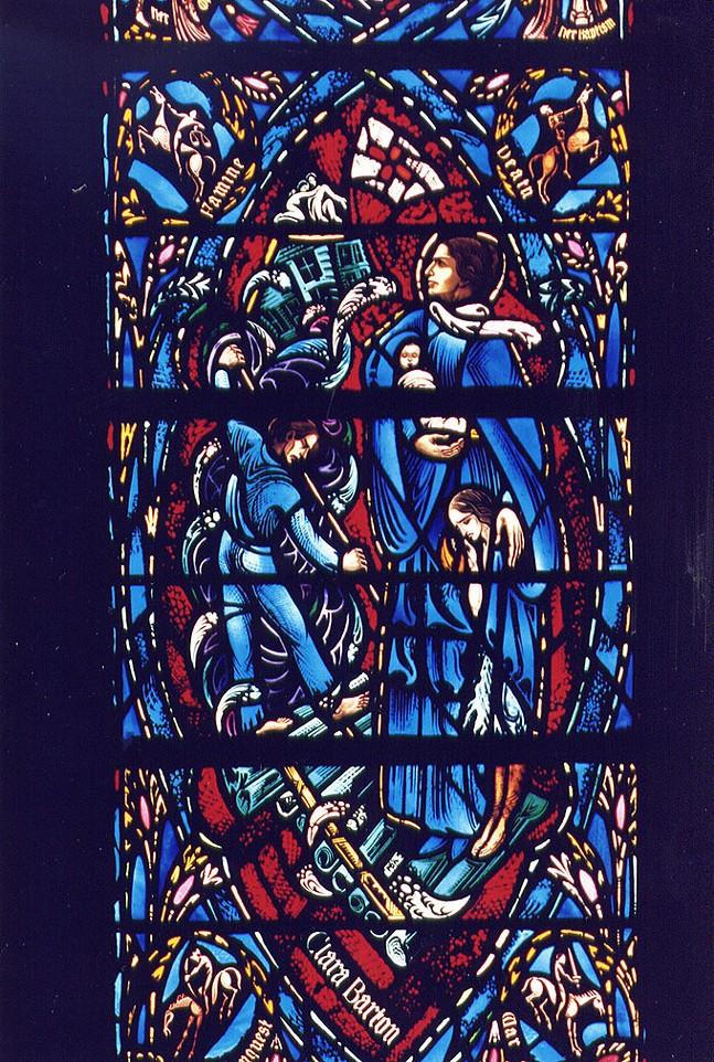 Heinz Memorial Chapel window depicting Clara Barton - HEINZ MEMORIAL CHAPEL