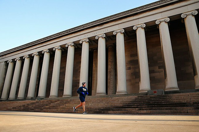 The classical style of The Mellon Institute on Fifth Avenue in Oakland - CP PHOTO: JARED WICKERHAM