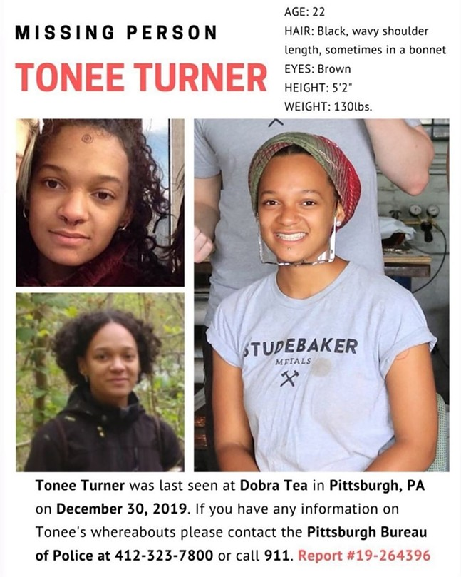 Tonee Turner's missing person flyer