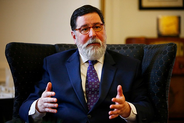 Mayor Bill Peduto inside his office at the City County Building on Wed., Feb. 12, 2020. - CP PHOTO: JARED WICKERHAM
