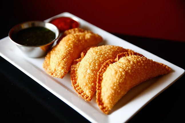 Empanadas from Zorros - CP PHOTO: JARED WICKERHAM