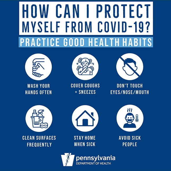 RESOURCE GRAPHIC FROM THE PENNSYLVANIA HEALTH DEPARTMENT